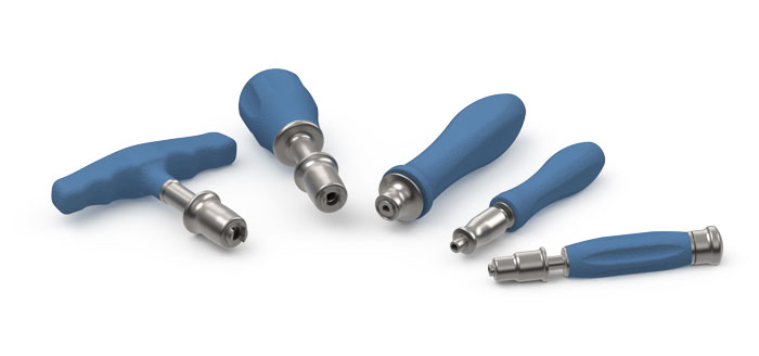 Med-Torque Silicone Handles Fixed Couplings Inset
