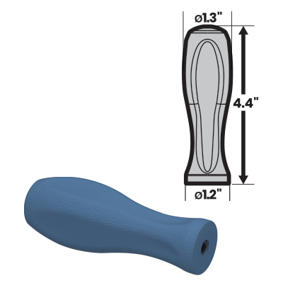 MedTorque makes quality silicone handles for medical purposes, such as the 3HS 8 Standard Axial handle in the image.