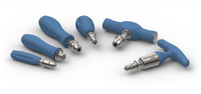 MedTorque Limiting Silicone Handles Couplings