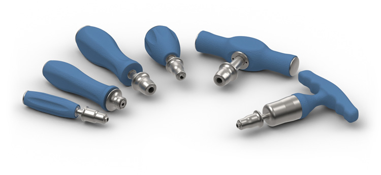 MedTorque Torque Limiting Silicone Handles Couplings
